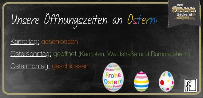 Öffnungszeiten Ostern